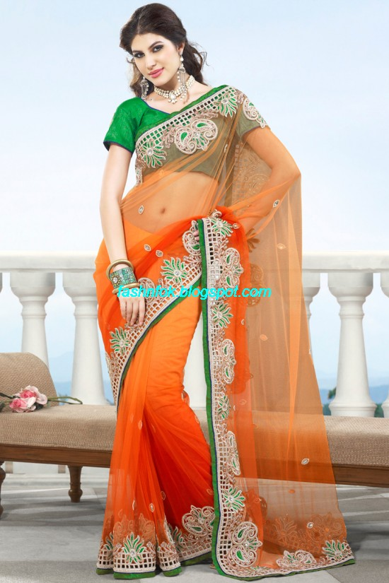 Indian-Brides-Bridal-Wedding-Fancy-Embroidered-Saree-Design-New-Fashion-Hot-Sari-Dress-7