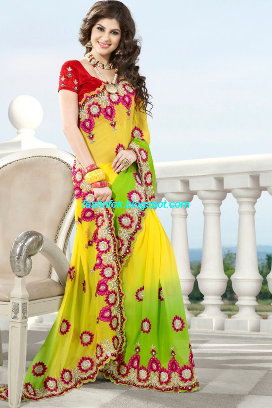 Indian-Brides-Bridal-Wedding-Fancy-Embroidered-Saree-Design-New-Fashion-Hot-Sari-Dress-8