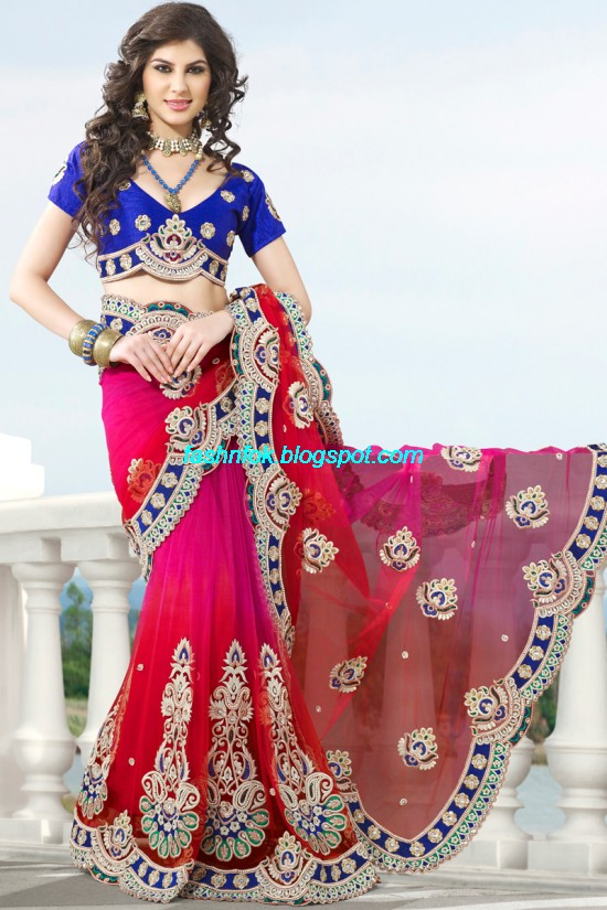 Indian-Brides-Bridal-Wedding-Fancy-Embroidered-Saree-Design-New-Fashion-Hot-Sari-Dress-9