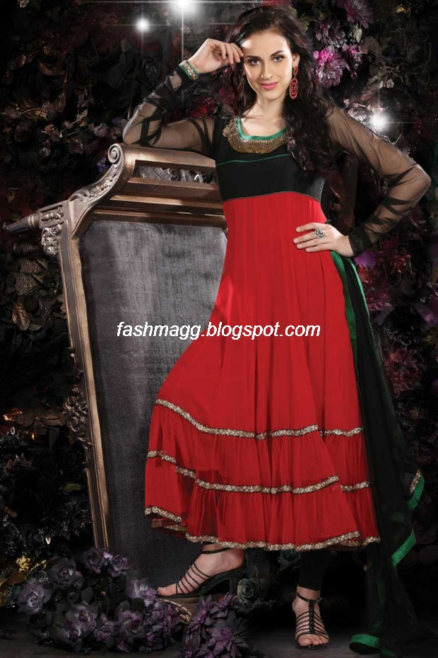 Indian Anarkali Traditional Frock Design-Anarkali Fancy Silk Embroidered New Fashion Dress10