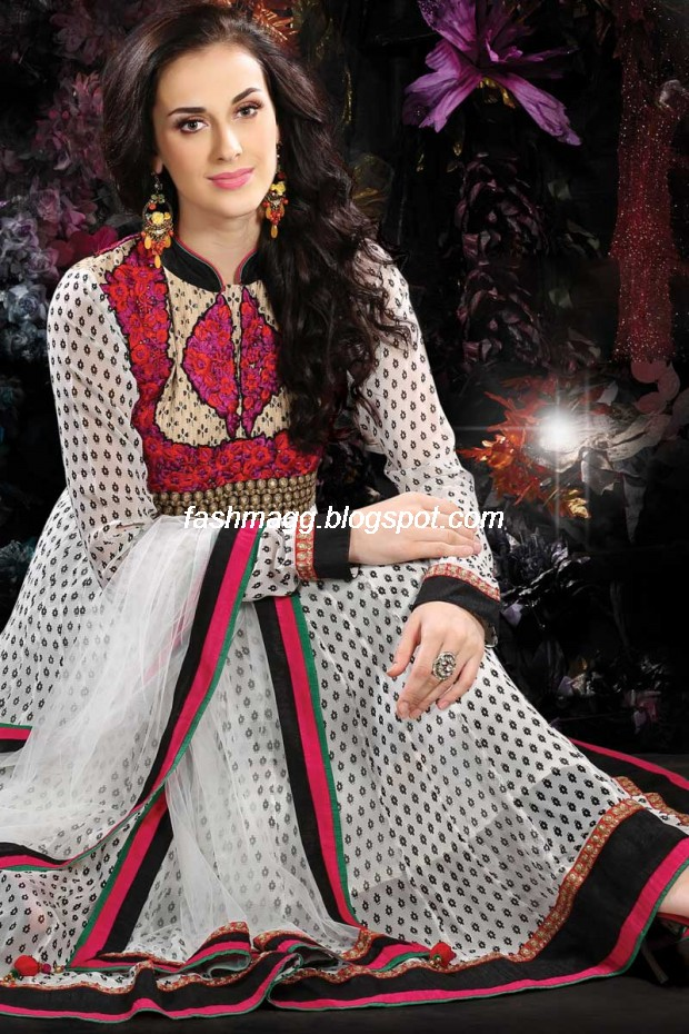 Indian Anarkali Traditional Frock Design-Anarkali Fancy Silk Embroidered New Fashion Dress12