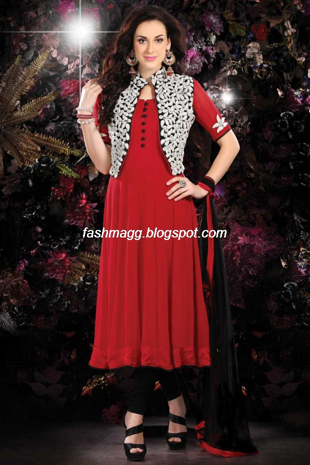 Indian Anarkali Traditional Frock Design-Anarkali Fancy Silk ...
