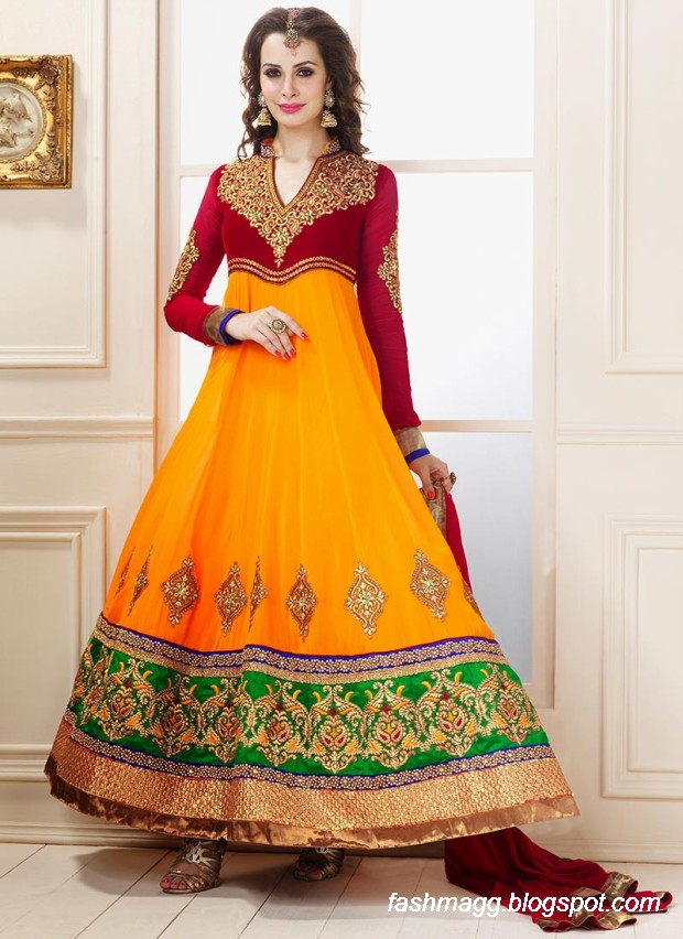 Anarkali-Umbrella-Wedding-Brides-Fancy-Party-Wear-Frocks-2013-Latest-Fashionable-Clothes-10