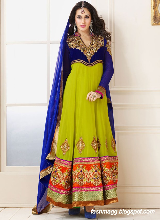 Anarkali Umbrella Frocks: Indian Anarkali Umbrella Wedding-Brides-Bridal Party Wear