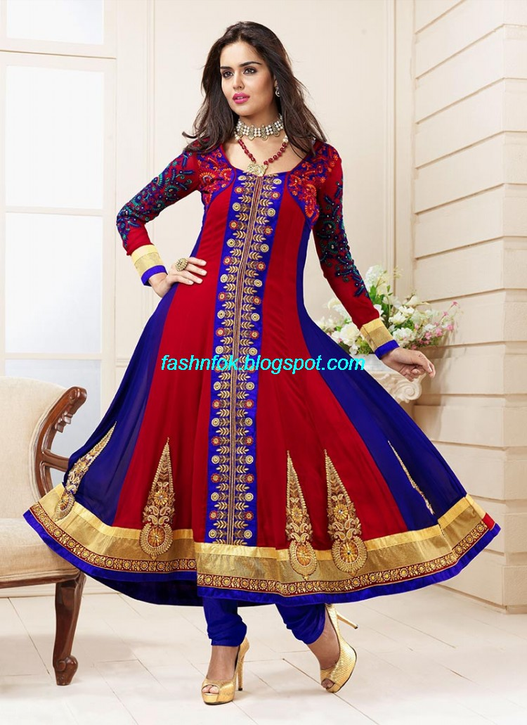 Anarkali-Umbrella-Wedding-Brides-Fancy-Party-Wear-Frocks-2013-Latest-Fashionable-Clothes-5