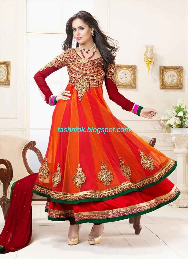 Anarkali Umbrella Frocks: Fashion & Fok: Indian Anarkali Umbrella Wedding-Brides