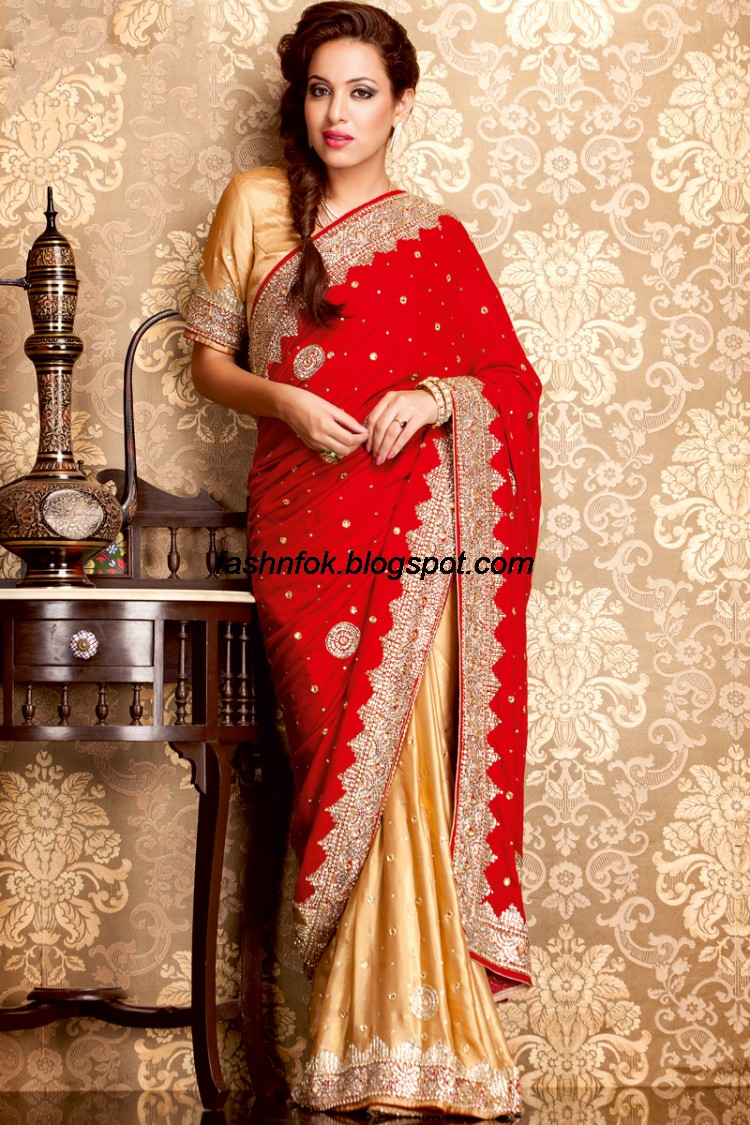 Indian Beautiful Wedding Bridal Wear New Fashionable Sarees And