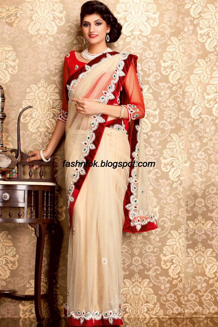 Indian Beautiful Wedding-Bridal Wear New Fashionable Sarees and ...
