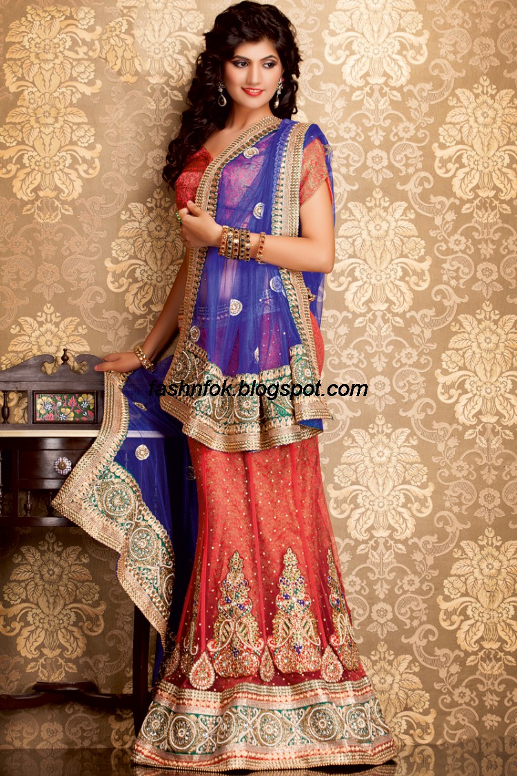 Bridal-Wedding-Wear-Sari-Lehenga-Choli-Latest-Brides-Outfit-for-Girls-Women-2013-3