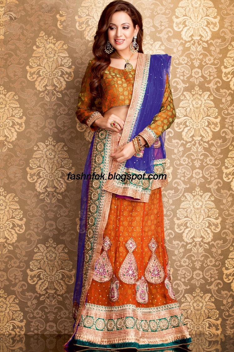 Bridal-Wedding-Wear-Sari-Lehenga-Choli-Latest-Brides-Outfit-for-Girls-Women-2013-6