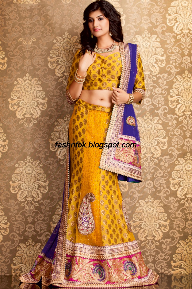 Bridal-Wedding-Wear-Sari-Lehenga-Choli-Latest-Brides-Outfit-for-Girls-Women-2013-7