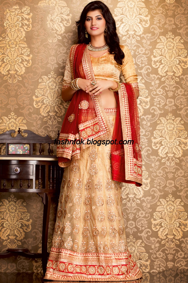 Bridal-Wedding-Wear-Sari-Lehenga-Choli-Latest-Brides-Outfit-for-Girls-Women-2013-8