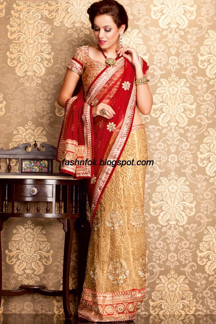 03cb4f737 Indian Beautiful Wedding-Bridal Wear New Fashionable Sarees and ...