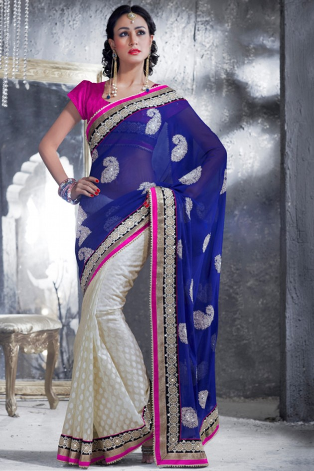 Indian-Brides-Bridal-Wedding-Party-Wear-Embroidered-Saree-Design-New-Fashion-Reception-1