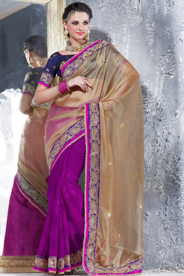 Indian-Brides-Bridal-Wedding-Party-Wear-Embroidered-Saree-Design-New-Fashion-Reception-Sari-10