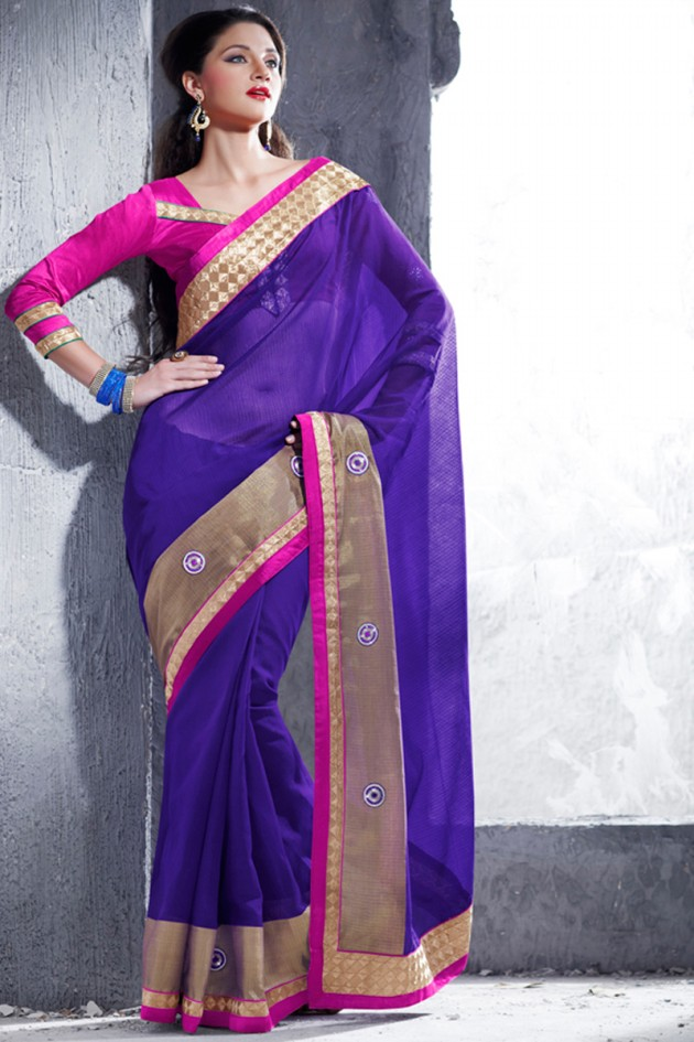 Indian-Brides-Bridal-Wedding-Party-Wear-Embroidered-Saree-Design-New-Fashion-Reception-Sari-14