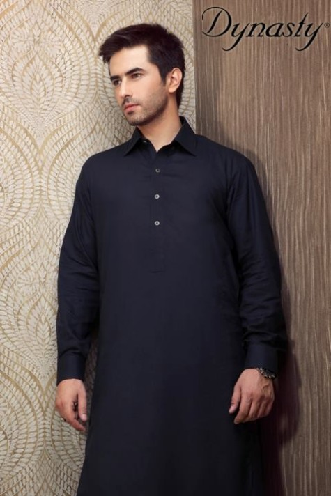 Mens-Wear-Cotton-Embroidered-Kurta-Pajama-By-Dynasty-Fabrics-New-Fall-Collection-2013-14-13