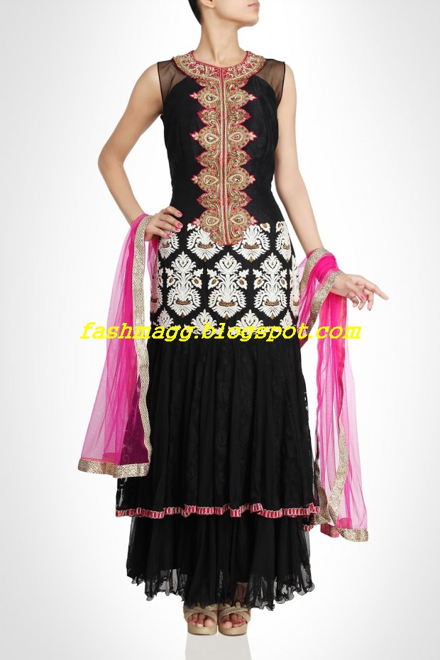 Amazing-Bridal-Wear-Indian-Fashionable-Dress-Designs-for-Cute-Girls-1