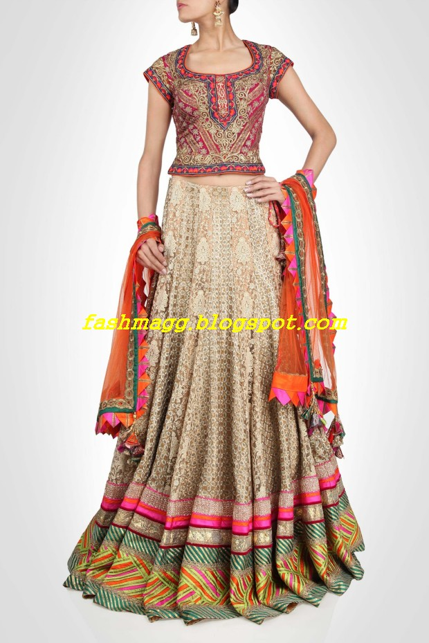 Amazing-Bridal-Wear-Indian-Fashionable-Dress-Designs-for-Cute-Girls-13