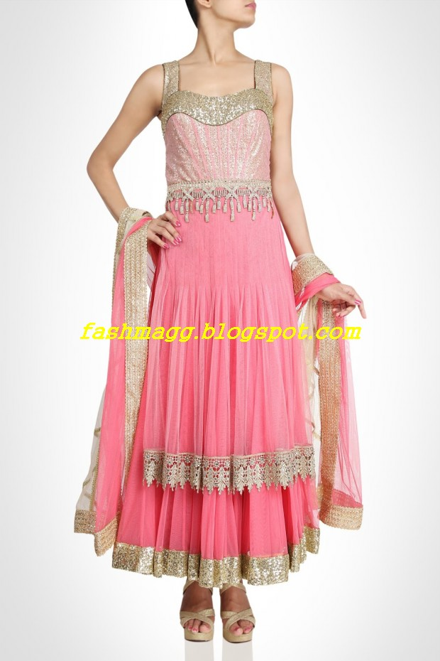 Amazing-Bridal-Wear-Indian-Fashionable-Dress-Designs-for-Cute-Girls-5