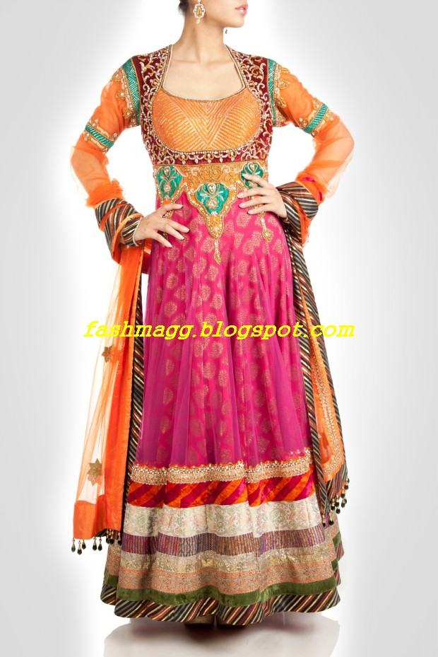 Amazing-Bridal-Wear-Indian-Fashionable-Dress-Designs-for-Cute-Girls-6