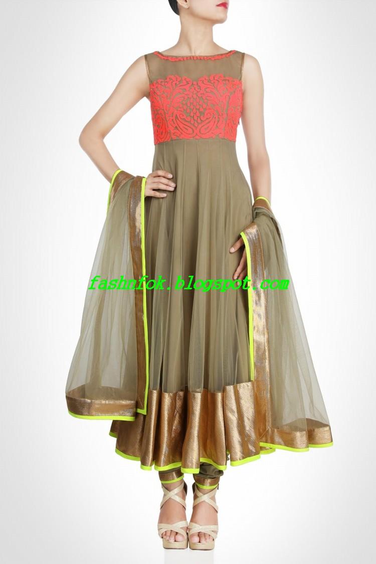 Bollywood Famous Designer Anarkali Brides Wear Fashionable