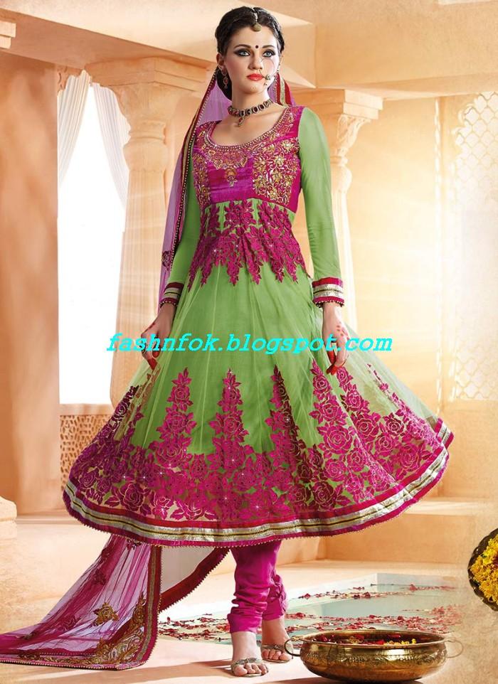 Designer Amna Latest Frocks Dresses Design Collection 2013