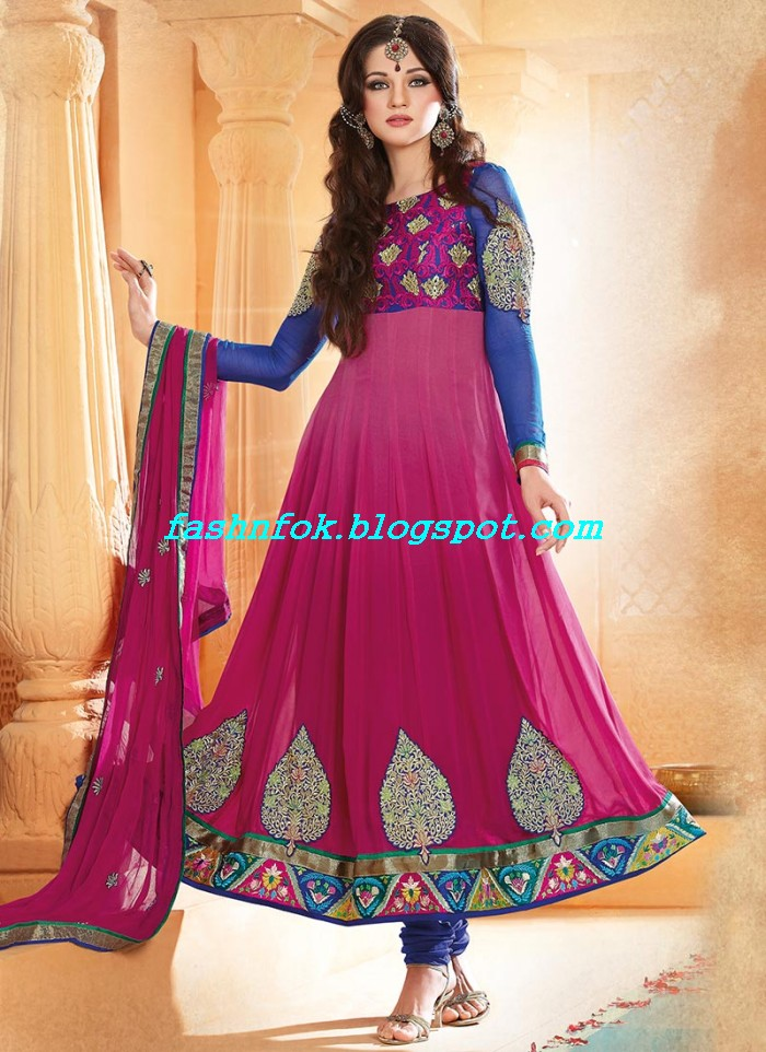 Beautiful-Anakrali-Umbrella-Frock-With-Churidar-Pajama-New-Fashion-Suits-2013-14-by-Designer-Amna-7