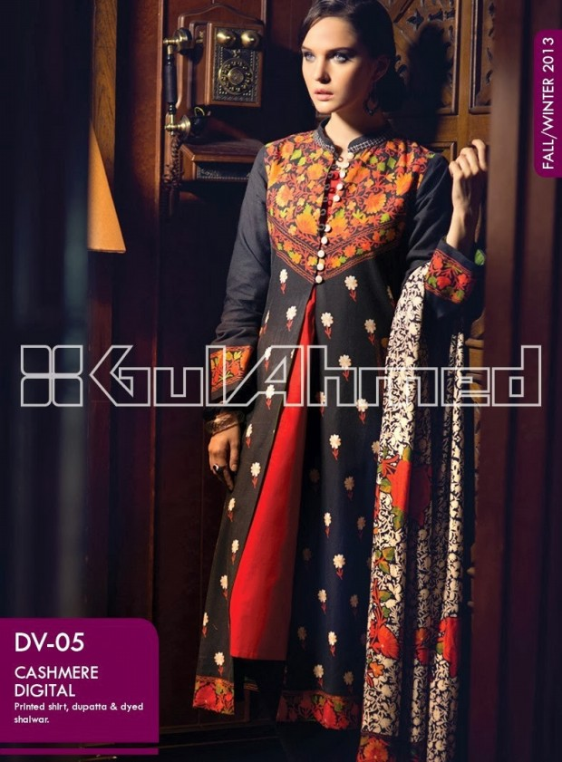 Beautiful-Cute-Girls-New-Fashion-Dress-Design-by-Gul-Ahmed-Fall-Winter-Collection-2013-14-1