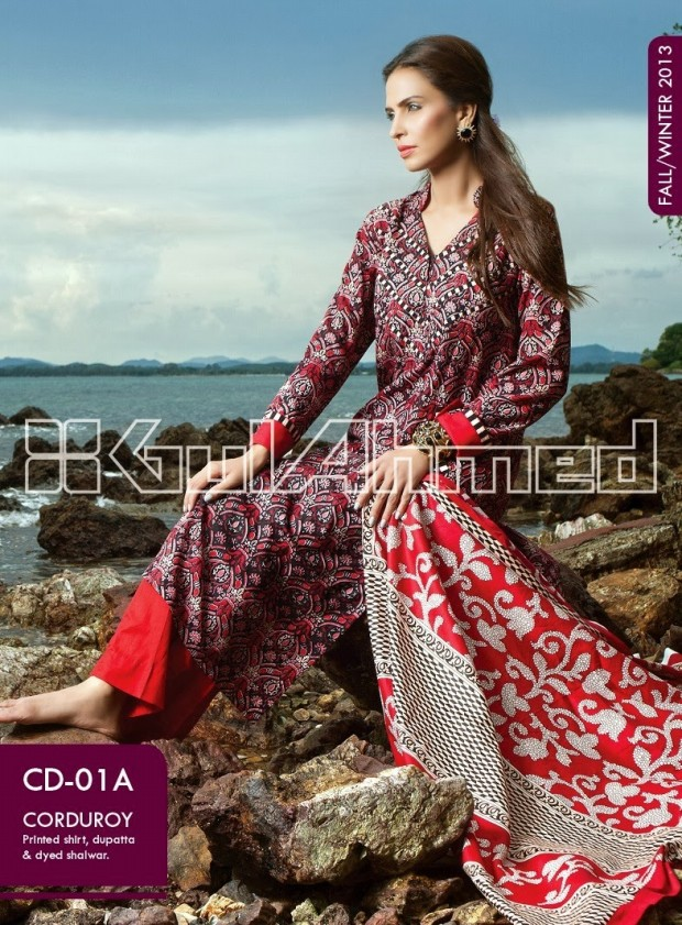 Beautiful-Cute-Girls-New-Fashion-Dress-Design-by-Gul-Ahmed-Fall-Winter-Collection-2013-14-10