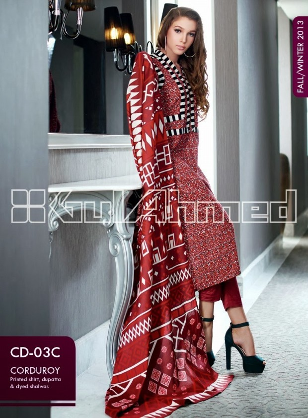 Beautiful-Cute-Girls-New-Fashion-Dress-Design-by-Gul-Ahmed-Fall-Winter-Collection-2013-14-11