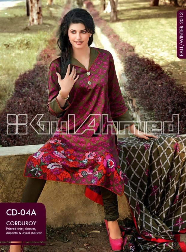 Beautiful-Cute-Girls-New-Fashion-Dress-Design-by-Gul-Ahmed-Fall-Winter-Collection-2013-14-12