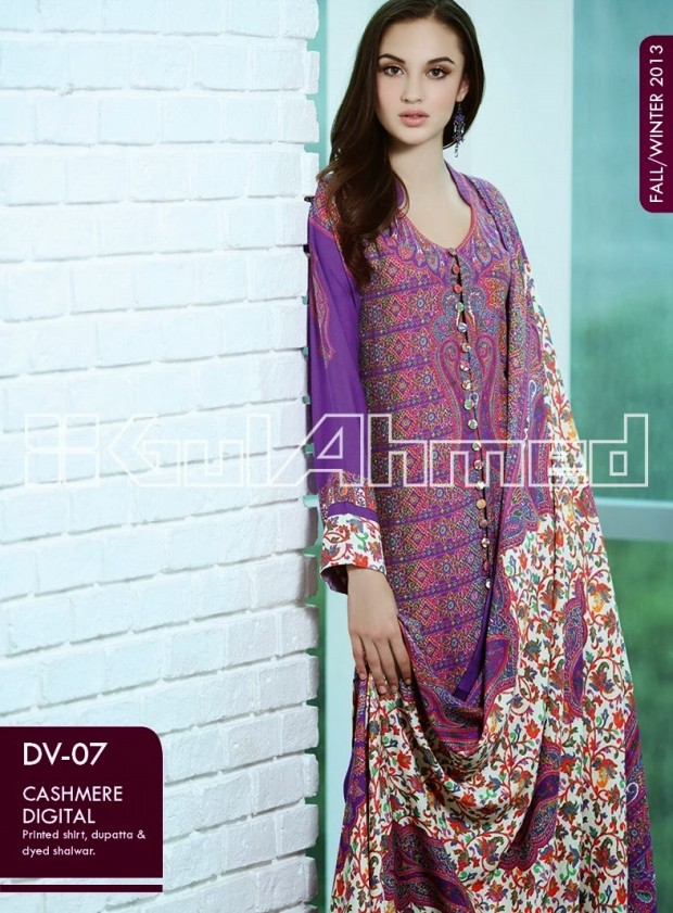 Beautiful-Cute-Girls-New-Fashion-Dress-Design-by-Gul-Ahmed-Fall-Winter-Collection-2013-14-3