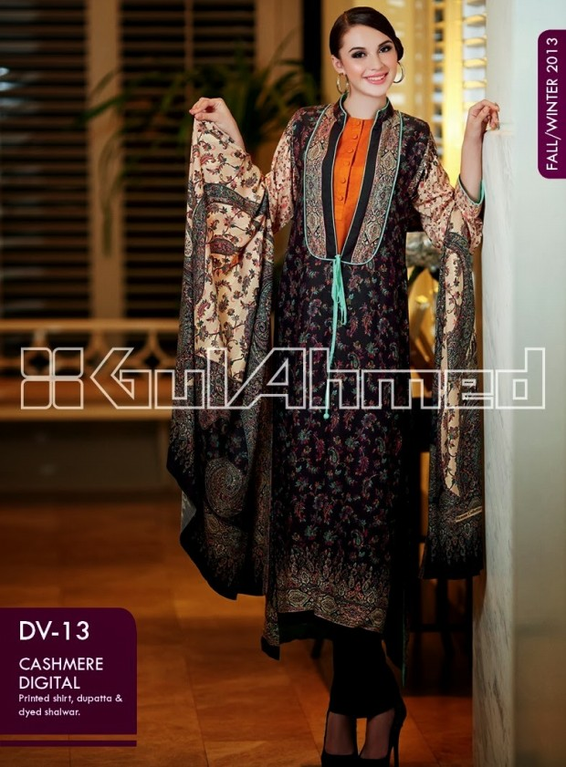 Beautiful-Cute-Girls-New-Fashion-Dress-Design-by-Gul-Ahmed-Fall-Winter-Collection-2013-14-6