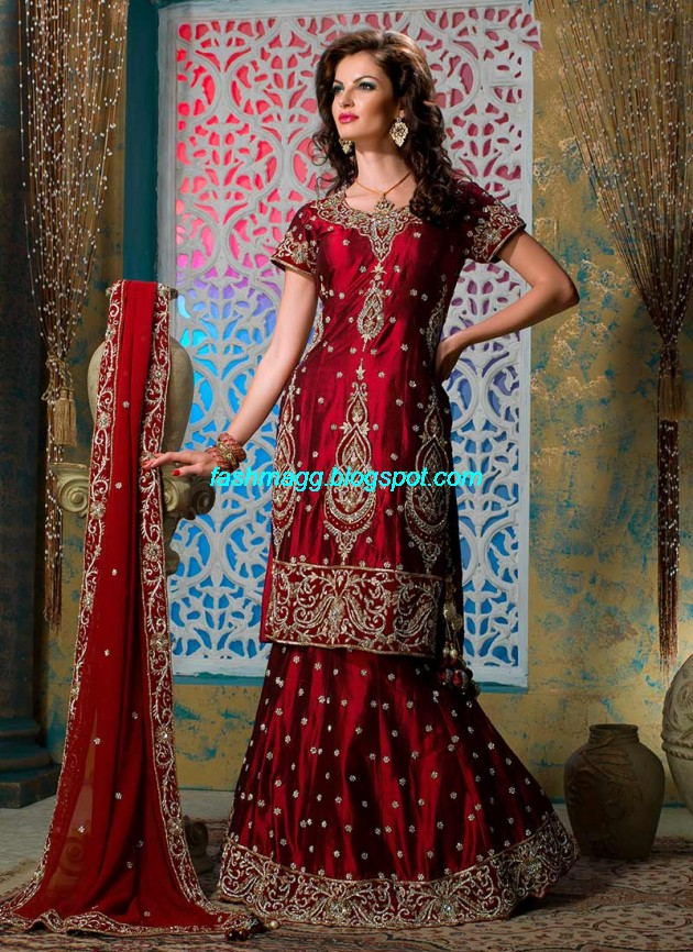 Beautiful-Cute-Girls-Wear-Bridal-Lehenga-Choli-New-Fashion-Dress-Design-2013-10