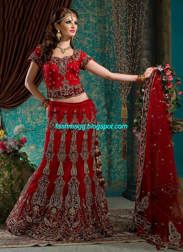 Beautiful-Cute-Girls-Wear-Bridal-Lehenga-Choli-New-Fashion-Dress-Design-2013-14