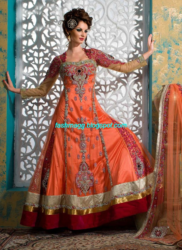 Beautiful-Cute-Girls-Wear-Bridal-Lehenga-Choli-New-Fashion-Dress-Design-2013-4