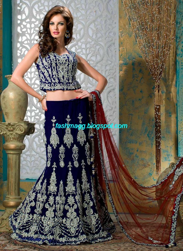 Beautiful-Cute-Girls-Wear-Bridal-Lehenga-Choli-New-Fashion-Dress-Design-2013-