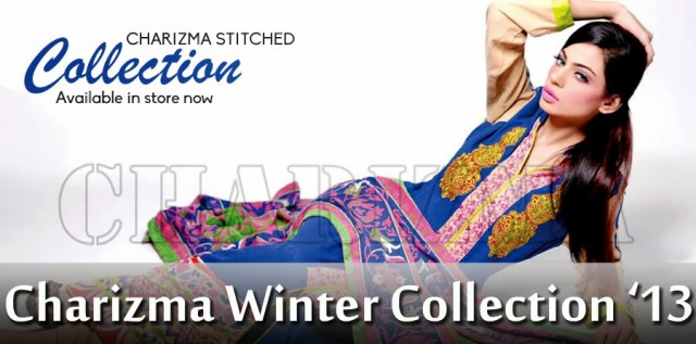 Beautiful-Girls-Wear-Stich-Embroidered-Clothes-New-Fashion-by-Charizma-Winter-Dress-2013-14-