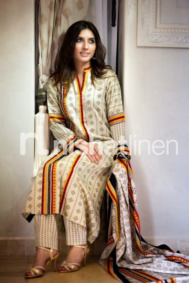 Nishat Linen Winter Dress Designs 2013 2014 Nisha Pret