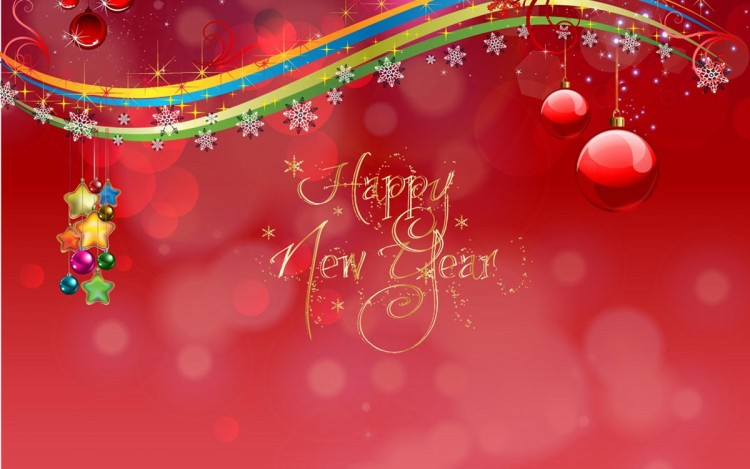 animated beautiful new year greeting cards design image