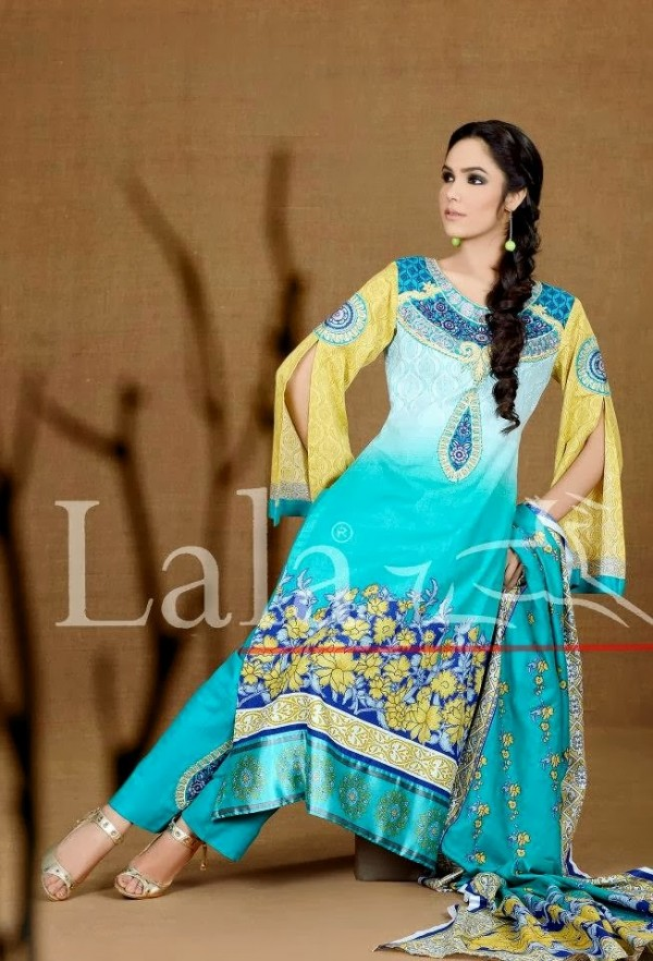 Fashion Fok Uk Fashion Spring Summer Outfit 2015 For: Fashion & Fok: Lala Textiles Khaddar Collection 2015 By