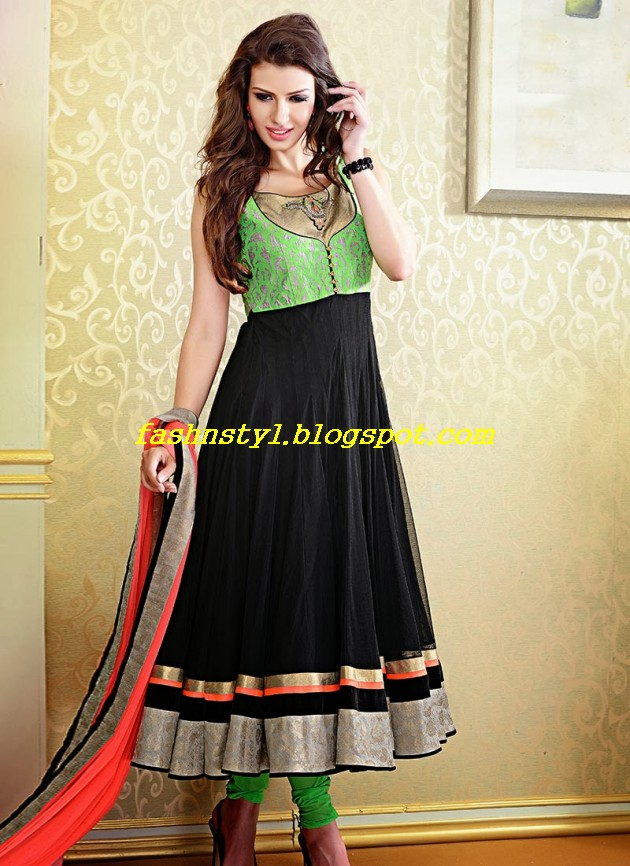 Beautiful-Gorgeous-Anarkali-Bridal-Wedding-Frock-New-Fashion-Trend-for-Cute-Girls-2013-14-2