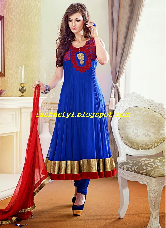 Beautiful-Gorgeous-Anarkali-Bridal-Wedding-Frock-New-Fashion-Trend-for-Cute-Girls-2013-14-7