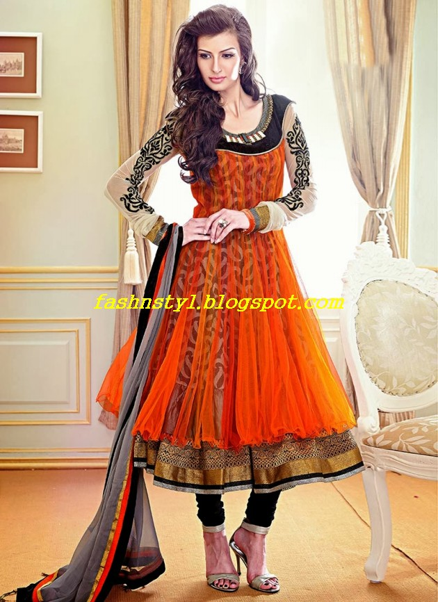 Beautiful-Gorgeous-Anarkali-Bridal-Wedding-Frock-New-Fashion-Trend-for-Cute-Girls-2013-14-8