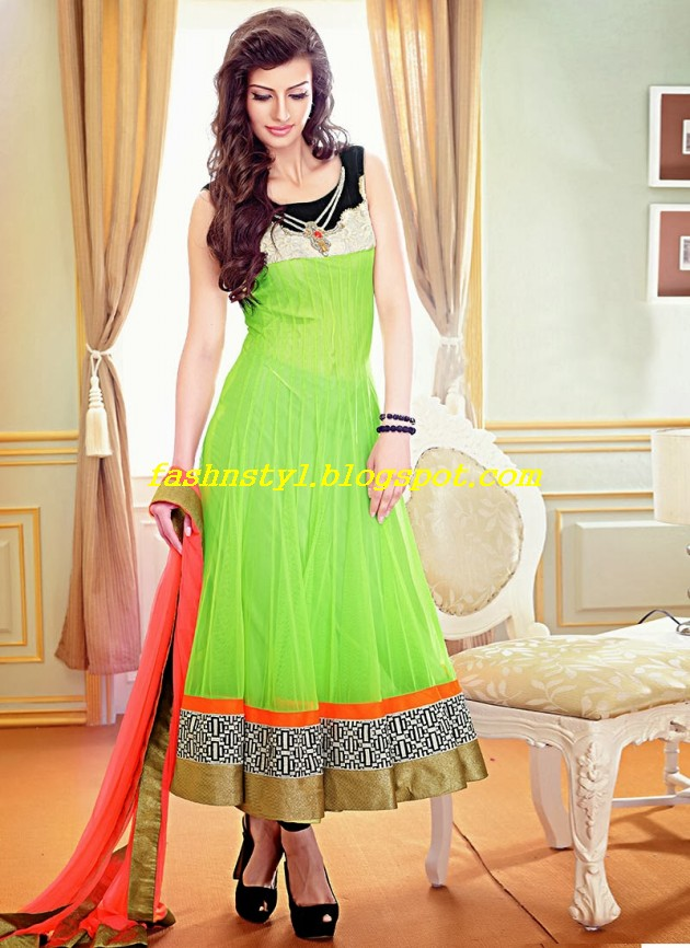 Beautiful-Gorgeous-Anarkali-Bridal-Wedding-Frock-New-Fashion-Trend-for-Cute-Girls-2013-14-