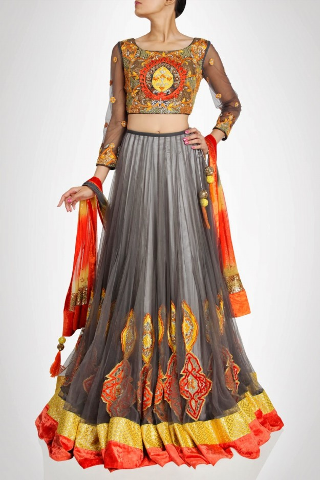 Designer-Charu-Parashar-Bridal-Frock-Lehanga-Choli-Sharara-Gharara-for-Brides-Wedding-Wear-5