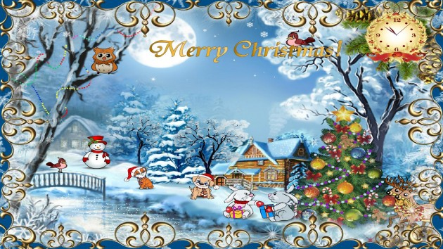 happy christmas beautiful images