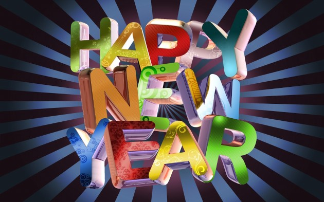 happy new year animated greeting card design pictures