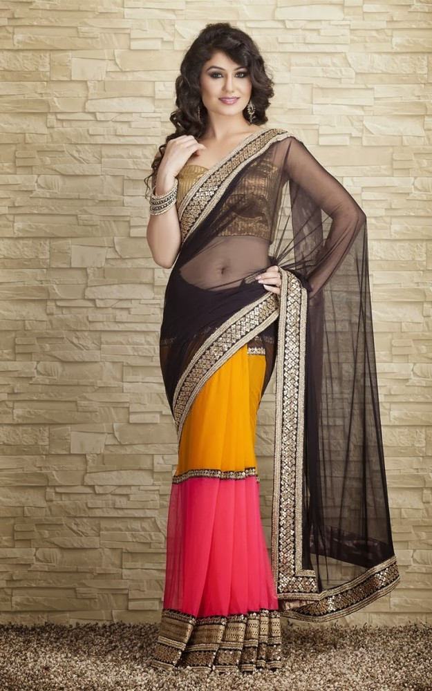 Indian-Designers-Beautiful-Bridal-Wedding-Saree-dress-Design-New-Fashionable-Sari-for-Girls-Women-11